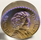 BEETHOVEN SIGNED 2013 ROBIN LEHMAN MEDALLION GOLD IRIDESCENT GLASS PAPERWEIGHT