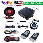 PKE Passive Car Alarm Keyless Entry Anti Theft System Remote Engine Start Stop