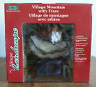 Lemax Christmas Village Mountain Backdrop with 9 Bristle Trees #81012 NIB New