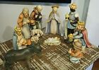 1960s Hummel Goebel 214 Nativity Set 9 Large Figures W Germany TMK3