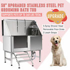 Upgraded 50 Pet Dog Grooming Bath Tub Station 304 Stainless Steel Professional