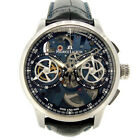 Auth MAURICE LACROIX Masterpiece Chronograph MP7128-Stainless Steel001-400 m...