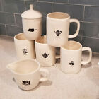 nwot rae dunn mugs canister creamer icon line tea cider coffee pour set