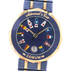 AUTHENTIC CORUM 39.610.31 V-52 Admirals cup Watches K18 yellow gold/Gun Me...
