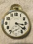 ILLINOIS SANGAMO SPECIAL 17s POCKET WATCH IN ORIGINAL 14k GREEN GOLD FILLED CASE