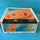 Fiesta HLC Homer Laughlin Tangerine 4 Piece Place Setting NIB