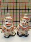 Vintage Clown Kids  Salt  Pepper Shakers  Made in Japan  Collectible