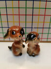Vintage Cute Begal Puppy Dogs  Salt  Pepper Shakers  Collectible