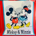 Mickey  Minnie Mouse Vintage Disney Fabric Quilt Top Panel Springs 100 Cotton