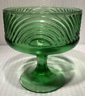 VINTAGE GLASS (E.O. BRODY CO.) CLEVELAND #138 PEDESTAL GREEN COMPOTE BOWL DISH