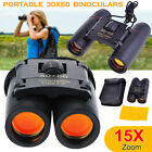 Day Night Vision 30 x 60 Zoom Travel Optics Hunting Camping Binoculars Telescope