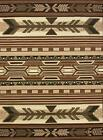 5 x 7 Western Decor Rugs Southwest Style Lodge Cabin Area Rug Native Brown Beige