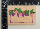 Rubber Stampede Posh Impressions Raspberry Leaves Branches Rubber Stamp Z490F
