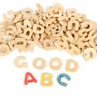 ROSENICE Wooden Letters Small Wooden Alphabet Letters DIY Wooden Alphabet for