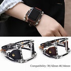 Steampunk Leather Alloy Band Strap 38/40mm for Apple Watch Series 4/3/2/1 Unisex