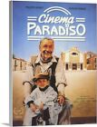 Solid Faced Canvas Print Wall Art entitled Cinema Paradiso 1988