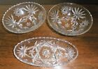 ANCHOR HOCKING Vintage STAR OF DAVID 3 pcs 1960's Prescut Clear Early American