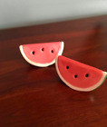 Vintage Watermelon Salt And Pepper Shakers