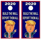 Build The Wall Deport Them All Trump Cornhole Board Wraps Decal 3385
