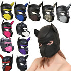 Sexy Dog Full Head Mask Adult Cosplay Role Play Soft Padded Latex Rubber Puppy