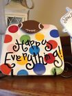 Happy Everything Coton Colors Square Server Bright Dot