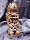 RARE RED ROCK CLAY STORYTELLER SEDONA ARIZONA 7 CHILDREN NATIVE AMERICAN 7