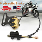Rear Hydraulic Disc Brake Caliper Master Cylinder For Moped Scooter Motorcycle