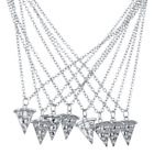Lux Accessories Silvertone BFF Best Friends Forever Pizza Pie Slice Necklace 8PC