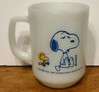 Vintage SNOOPY Mug FIRE KING I'm Not Worth A Thing Before Coffee Break PEANUTS!