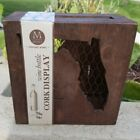 Florida Wine Bottle Cork Display Case Box Cage Brown Finish Medici