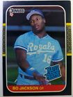 1987 87 Donruss Rated Rookie Bo Jackson RC Rookie #35, Royals