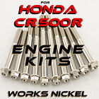 ENGINE Bolt Kit for Honda CR 500R | Works Nickel, Ti Look without the Ti Price!