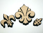 3 Piece Stamp Set Scrapbooking PaperCrafts Fleur De Lis Foam 3 Sizes