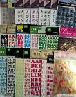 Pick 1 NEW Alphabet Letter Scrapbook Stickers Sticko Making Memories Jolees etc