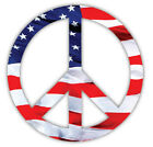 Peace Sign American Flag Patriotic Vinyl Sticker Decal Sign SIZES