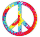 Peace Sign Tie Dye Car Laptop Phone Vinyl Sticker Decal SIZES