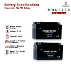 2 Pack Battery Replacement for Mighty Max YTX7A BS for Star 50cc Moped Scooter