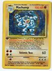 Machamp 1st Edition Base Set 8 102 Holo foil Rare Pokemon Card LP
