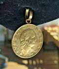 1998 200 Lire Italian Coin Encased in 14k Solid Gold Loop from Italy New