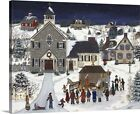 Little Church Nativity Canvas Wall Art Print Christmas Home Decor