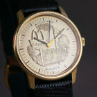 ⌚Vintage 1979 McDonald's Advertisement Bulova Accutron Mens Wrist Watch Working