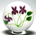 Early Victor Trabucco Three Violets Paperweight