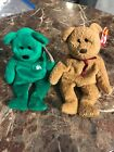 Lot Of 2 Beanie Babies Curly(1996) & Erin (1997) W/ Tags
