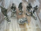 pewter nativity set of 12 figurines
