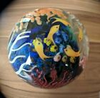 Gorgeous 3 inch Glass Marble Paperweight by Cathy Richardson WOW