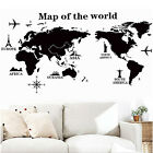 DIY World Map Removable PVC Vinyl Art Room Wall Sticker Decal Mural Home Deco s