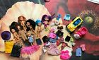 Lot of 7 Barbie kids.Kelly Tommy OZ, clothes Toys Popper seat Sleeping Bags Car