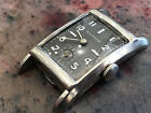 Vintage Waltham men's wristwatch rare gray matt dial 10k white gold filled runs