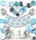 Baby Shower Decorations for Boys Kit Elephant Blue Its a Boy