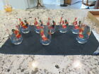 Set of 8 ROOSTER Drinking glasses